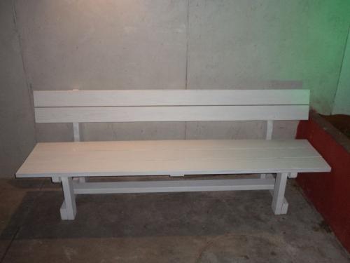 ספסל עץ מדגם עוז עם משענת